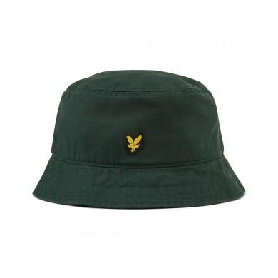 Lyle & Scott Cotton Twill Bucket Hat Jade Green