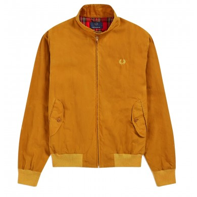 Fred Perry Reissues Made in England Harrington Wax Jacket Gold Leaf
