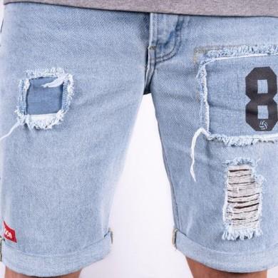 Loco Bermuda Denim Shorts Blue
