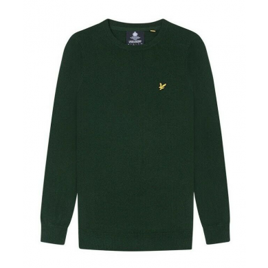 Lyle & Scott Cotton Merino Crew Neck Jumper Jade Green Marl