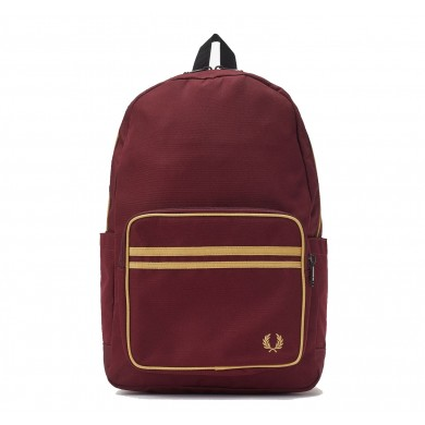 Fred Perry Authentic Twin Tipped Backpack Port & Champagne