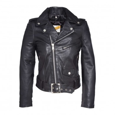 Schott Nyc Lady Perfecto Jacket with Belt LCW8600 Black