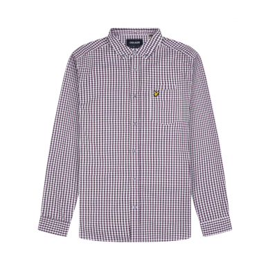 Lyle & Scott Slim Fit Gingham Shirt Burgundy