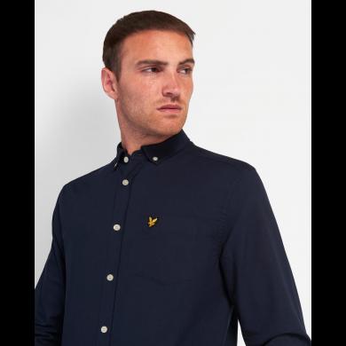 Lyle & Scott Regular Fit Light Weight Oxford Shirt Dark Navy