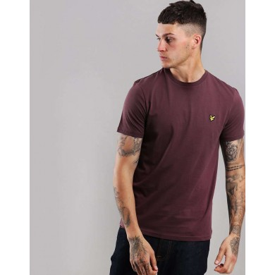 Lyle & Scott Crew Neck Tee Berry