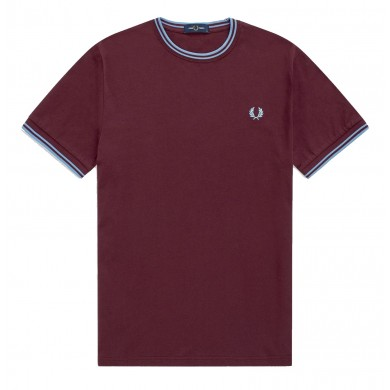 Fred Perry Twin Tipped Tee Mahogany