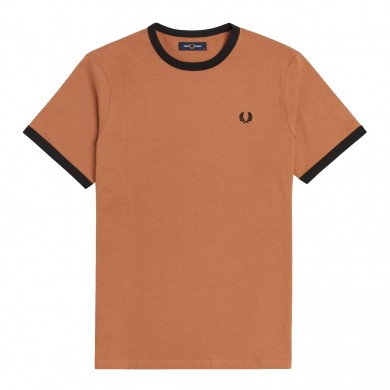Fred Perry Ringer Tee Sepia