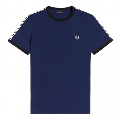 Fred Perry Authentic Taped Ringer Tee French Navy