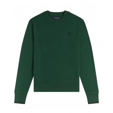 Fred Perry Authentic Crew Sweat Ivy & Black
