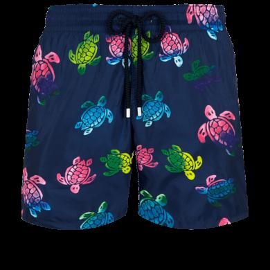 Vilebrequin Mahina Swin Short Ultra-light & Packable Ronde des Tortues Aquarelle Navy