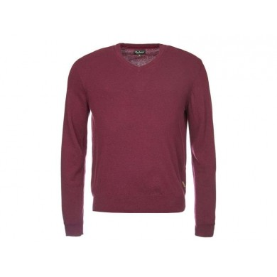 Barbour Harrow V-Neck Merlot