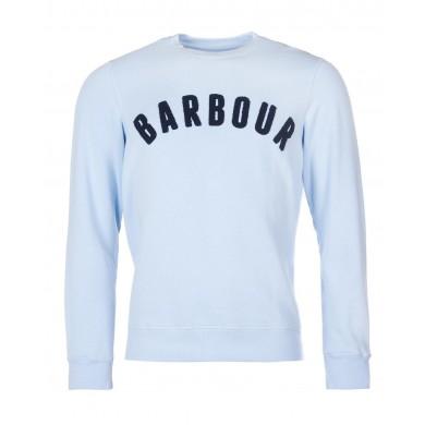 Barbour Prep Logo Crew Mens Sweatshirt Heritage Blue