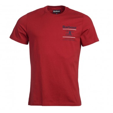 Barbour Reed Tee Lobster Red
