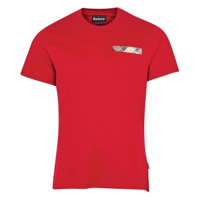 Barbour Durness Pocket Tee Red
