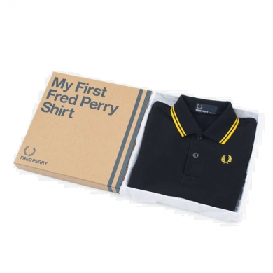 Fred Perry My First Fred Perry Shirt Black & Yellow