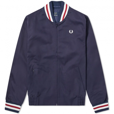 Fred Perry Reissues Made in England Original Tennis Bomber Jacket Navy & Red