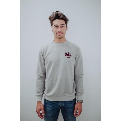 """Loco Legend """"El Sabio de Hortaleza"""" Sweatshirt Grey"""