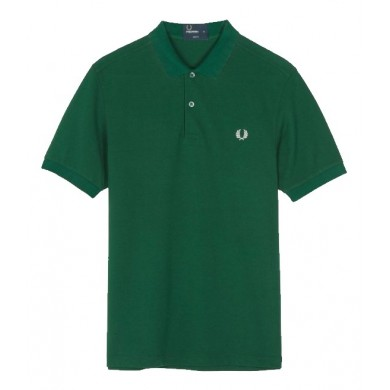 Fred Perry Slim Fit Plain Polo Ivy Green