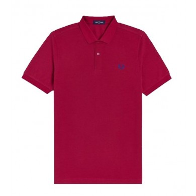 Fred Perry Slim Fit Plain Polo Red