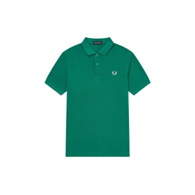 Fred Perry Slim Fit Plain Polo Green