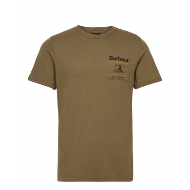 Barbour Reed Tee Mid Olive
