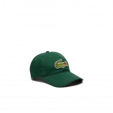 Lacoste Contrast Strap Crocodile Cotton Cap Green