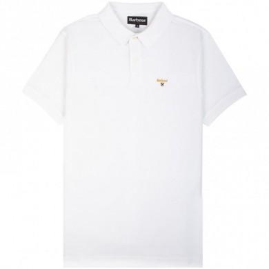 Barbour Saltire Merc Polo Shirt White