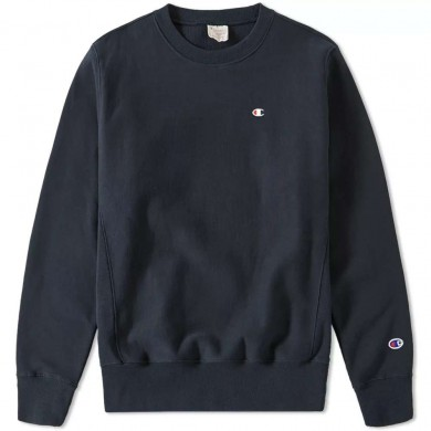 Champion Reverse Weave Classic Crew Sweat Navy