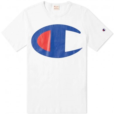 Champion Reverse Weave Large C Tee White