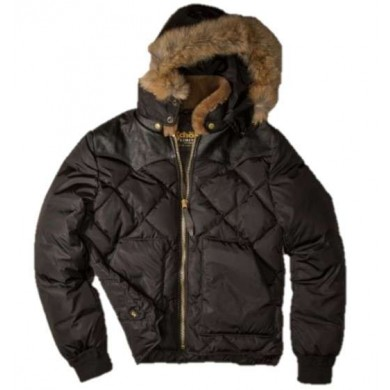 Schott NYC LMR5100 Limited Edition Northern Forest Ranger Down Jacket Black