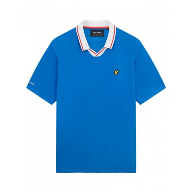 Lyle & Scott France Football Polo Shirt Blue