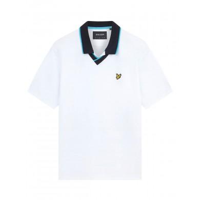 Lyle & Scott England Football Polo Shirt White