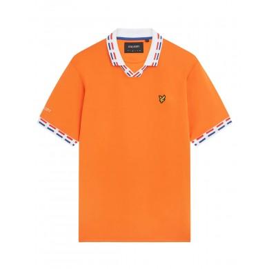 Lyle & Scott Netherlands Football Polo Shirt Orange