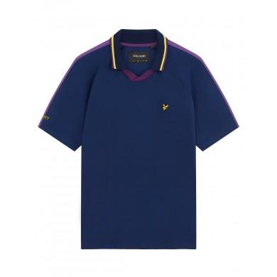 Lyle & Scott Scotland Football Polo Shirt Dark Navy