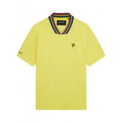 Lyle & Scott Sweden Football Polo Shirt Yellow