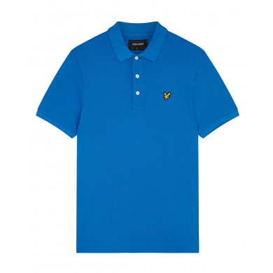 Lyle & Scott Plain Polo Shirt Bright Cobalt