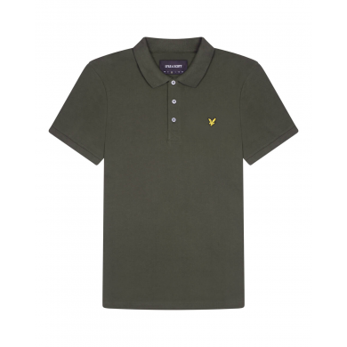 Lyle & Scott Plain Polo Shirt Trek Green