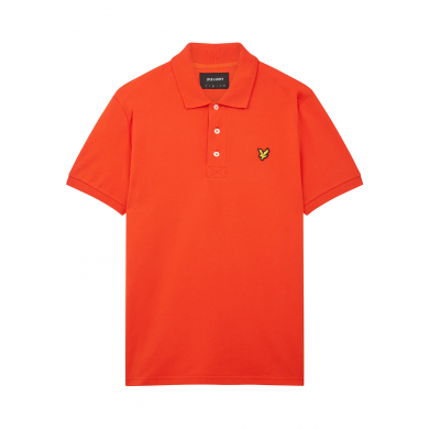 Lyle & Scott Plain Polo Shirt Orange