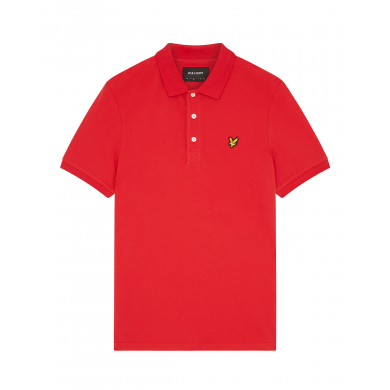 Lyle & Scott Plain Polo Shirt Gala Red