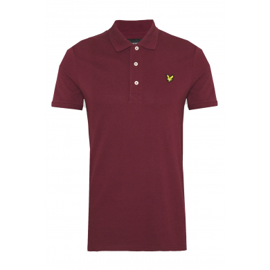 Lyle & Scott Plain Polo Shirt Merlot