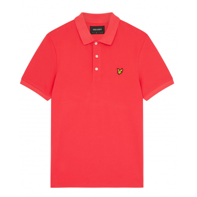 Lyle & Scott Plain Polo Shirt Geranium Pink