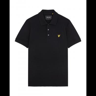 Lyle & Scott Plain Polo Shirt True Black