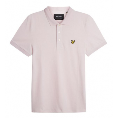 Lyle & Scott Plain Polo Shirt Strawberry Cream
