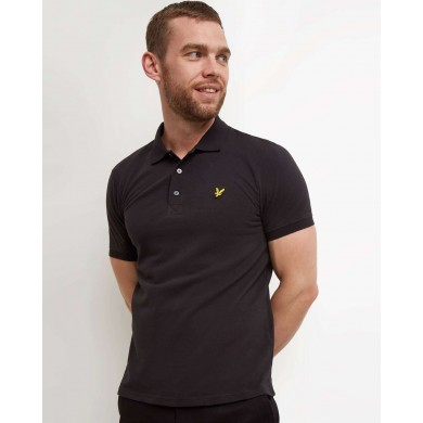 Lyle & Scott Plain Polo Shirt True Black