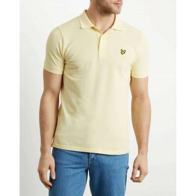 Lyle & Scott Plain Polo Shirt Vanilla Cream
