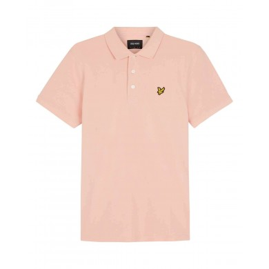 Lyle & Scott Plain Polo Shirt Coral Way