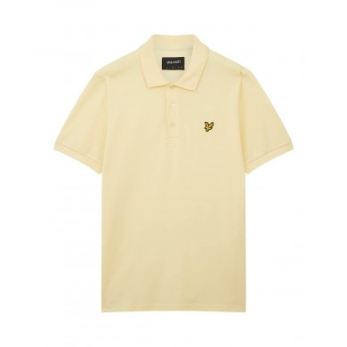 Lyle & Scott Plain Polo Shirt Lemon