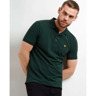 Lyle & Scott Plain Polo Shirt Jade Green