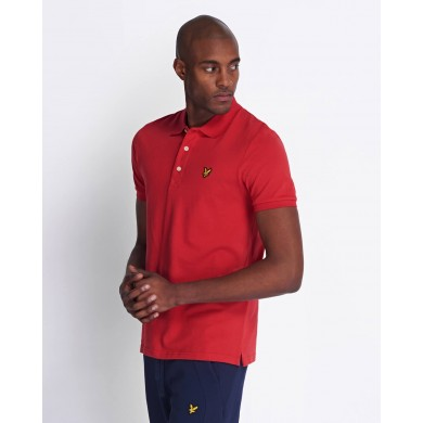 Lyle & Scott Plain Polo Shirt Red