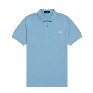 Fred Perry Slim Fit Plain Polo Sky
